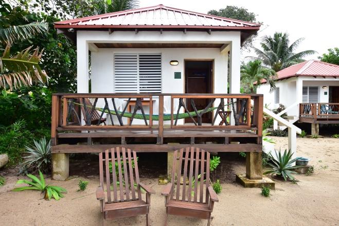 beach cabanas with logwood